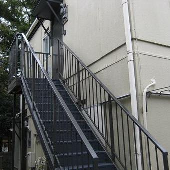 大田区 アパート鉄骨階段塗装工事